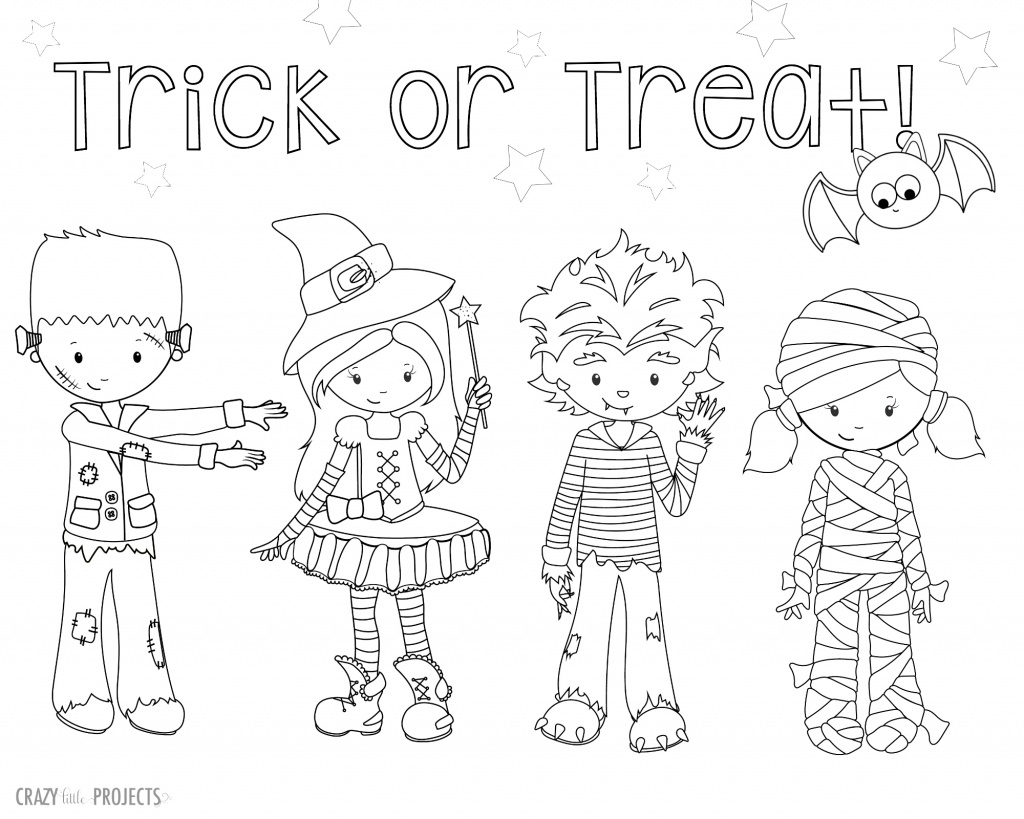 Free Halloween Coloring Pages For Adults & Kids - Happiness Is | Printable Halloween Cards To Color For Free