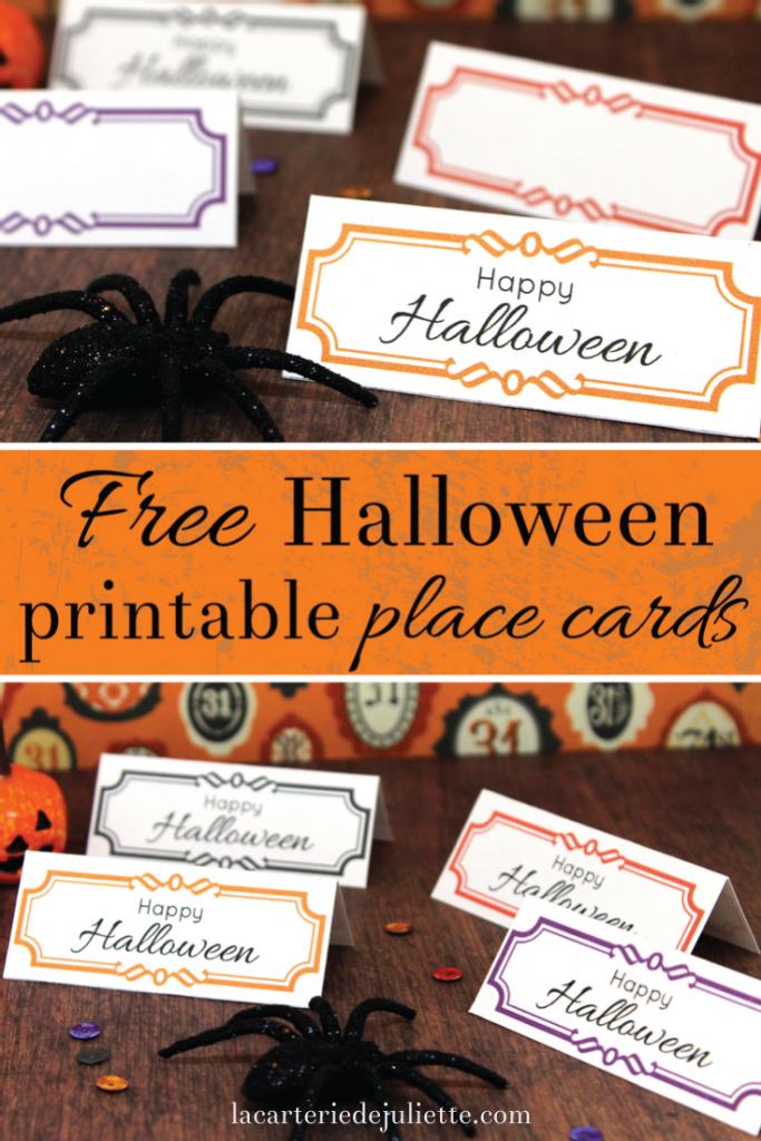 Free Halloween Printable Place Cards! - La Carterie De Juliette | Free Printable Halloween Place Cards