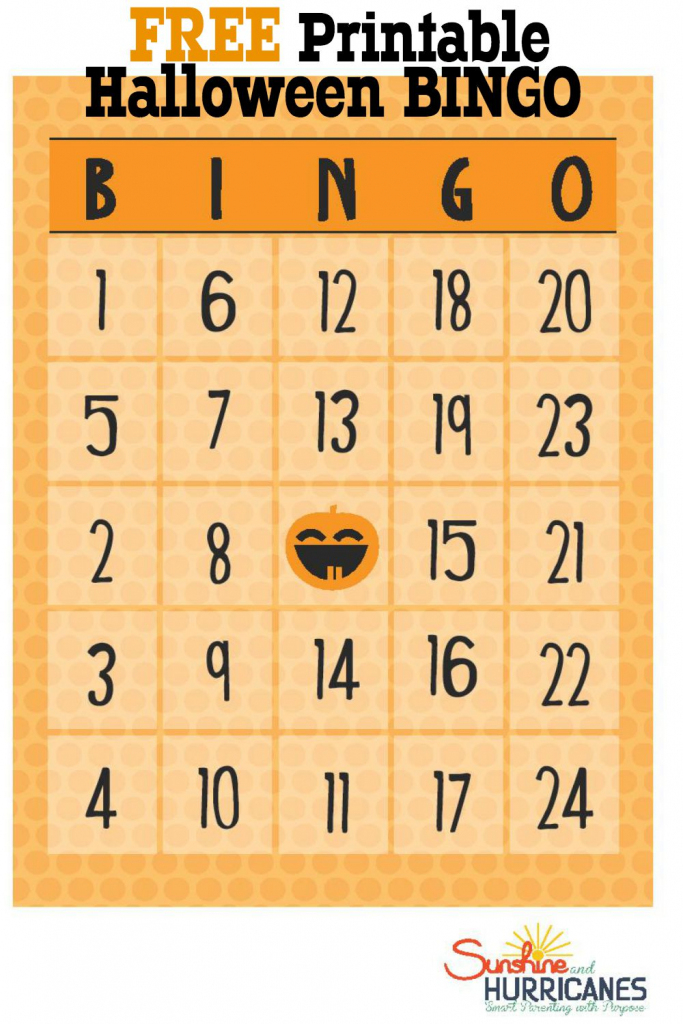 Free Halloween Printables - Bingo | Printable Number Bingo Cards