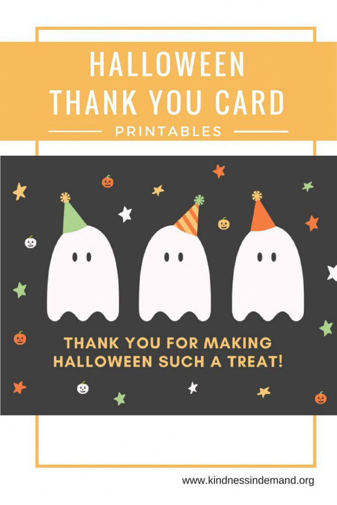Free Halloween Thank You Card Printables | Halloween | Halloween | Printable Halloween Greeting Cards