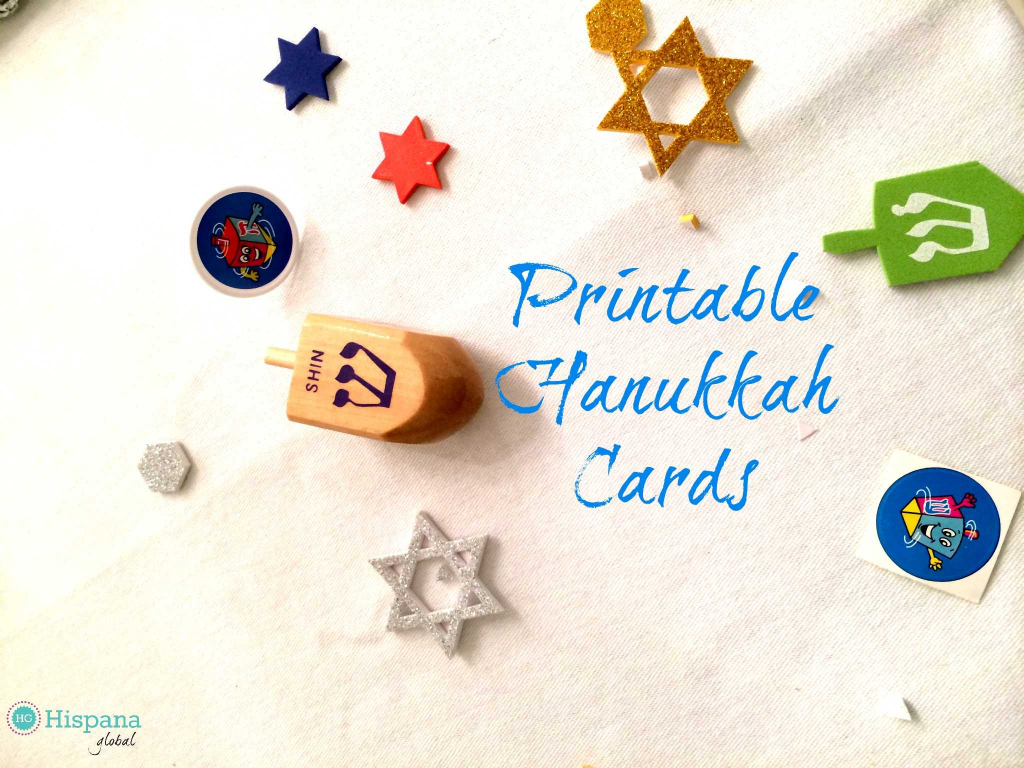 Free Hanukkah Cards - Hispana Global | Printable Hanukkah Cards To Color