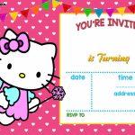 Free Hello Kitty Invitation   Free Printable Birthday Invitation   Hello Kitty Christmas Cards Free Printables