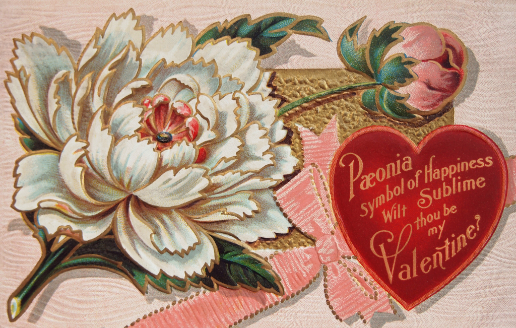 Free High Resolution Vintage Victorian Valentine's Day Postcard | Printable Vintage Valentines Day Cards