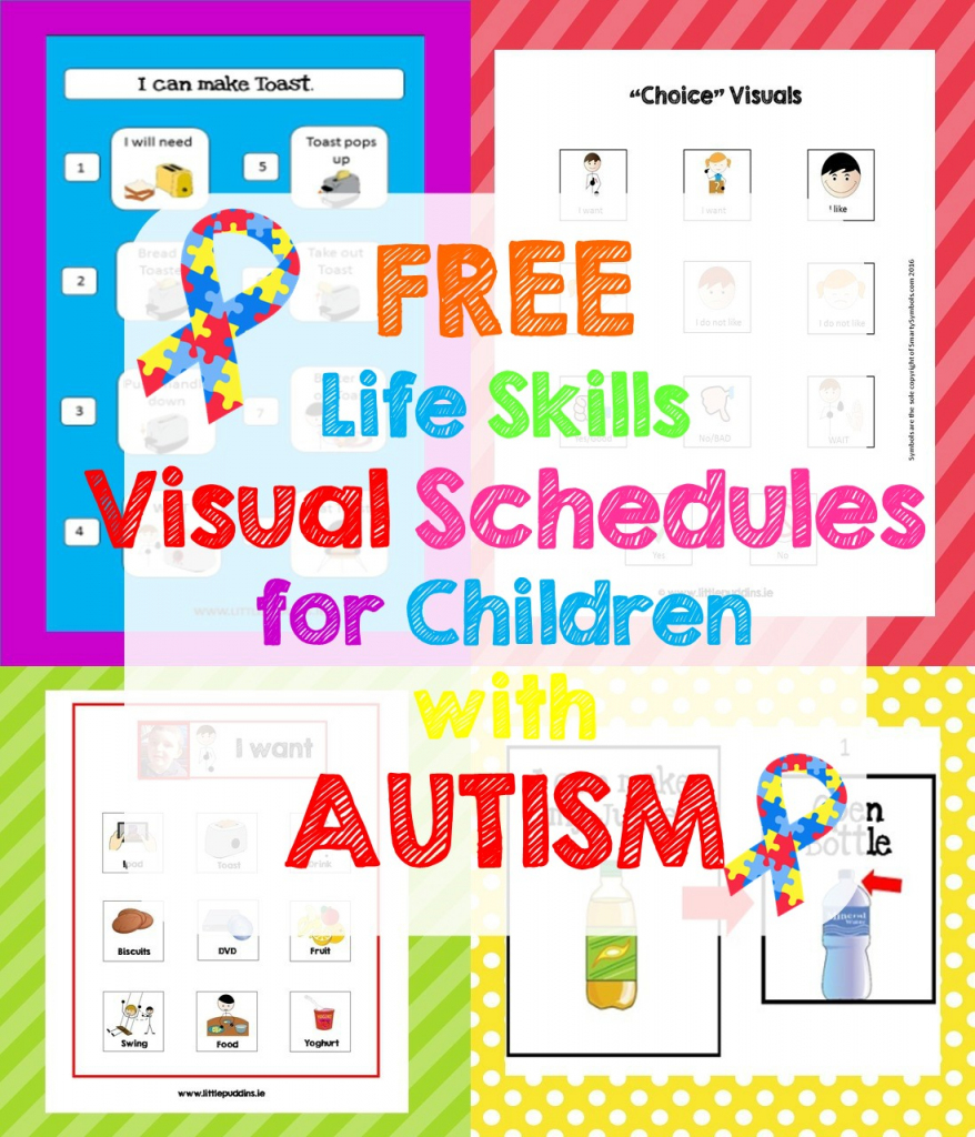 Free Life Skills Printable – Little Puddins Free Printables | Picture Cards For Autism Printable