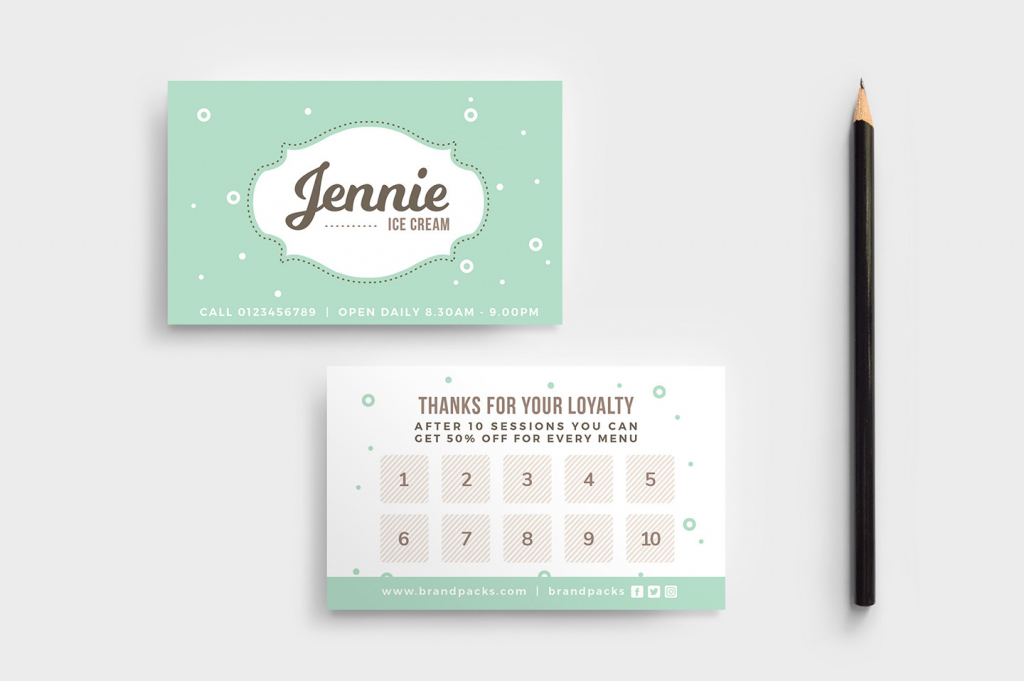 Free Loyalty Card Templates - Psd, Ai & Vector - Brandpacks | Free Printable Loyalty Card Template