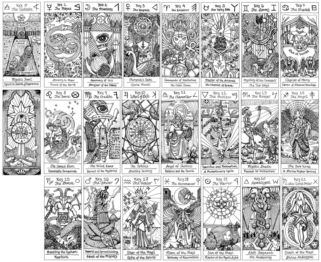 Free Major Arcana Download | Benebell Wen | Free Printable Tarot Cards