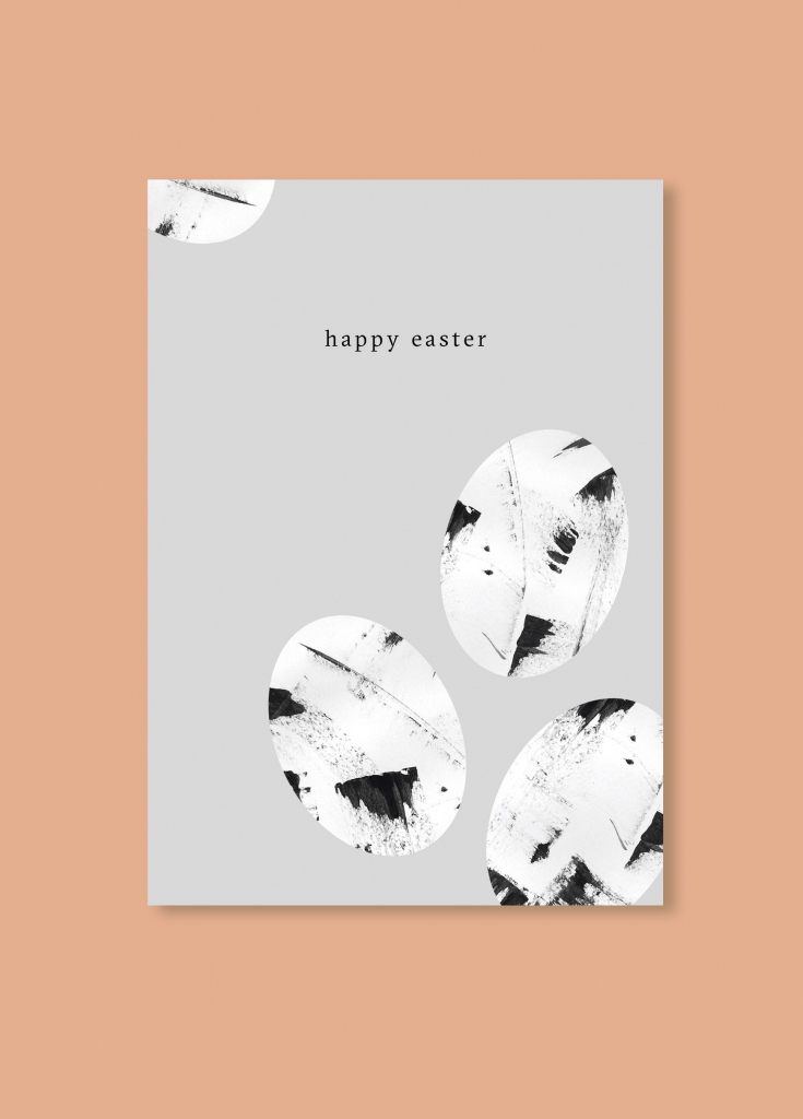 Free Minimalistic Easter Card | Invites // Paper Love | Diy Easter | Happy Easter Greeting Cards Printable