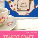 Free Mother's Day Card Template| Mother's Day | Easy Mothers Day | Teapot Mother's Day Card Printable Template