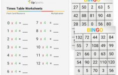 Times Table Flash Cards Printable