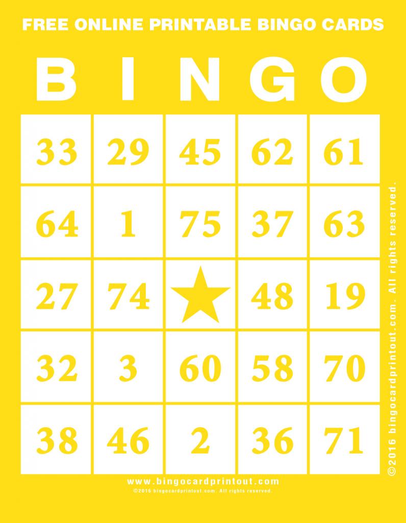 Free Online Printable Bingo Cards - Bingocardprintout | Bingo Cards Online Printable