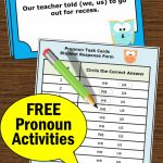 Free Personal Pronouns Task Cards { We Or Us }, Grammar Practice | Free Printable Kindergarten Task Cards