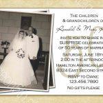 Free Printable 50Th Wedding Anniversary Invitation Templates | Free Printable 50Th Anniversary Cards