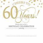 Free Printable 60Th Birthday | Kellies 50Th Bday Ideas | 60Th | 75Th Birthday Invitation Cards Printable