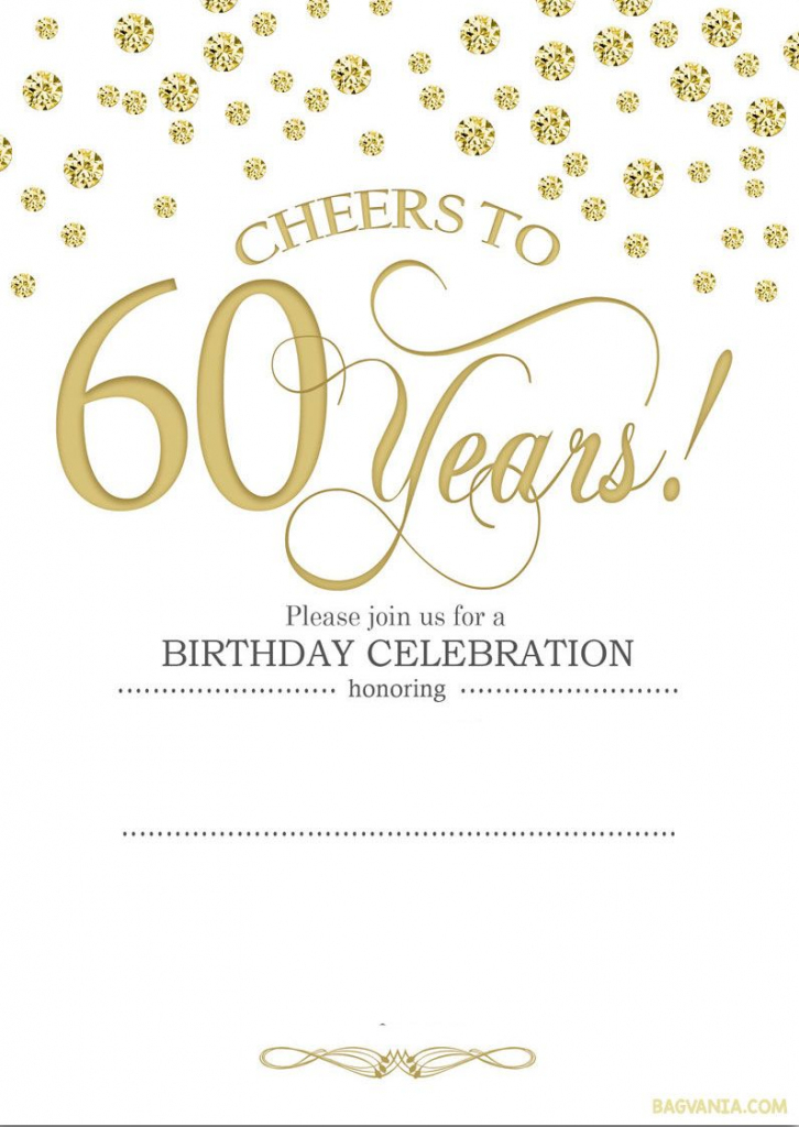 Free Printable 60Th Birthday | Kellies 50Th Bday Ideas | 60Th | 75Th Birthday Invitation Cards Printable