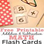 Free Printable Addition And Subtraction Math Flash Cards   Simple | Subtraction Flash Cards Printable