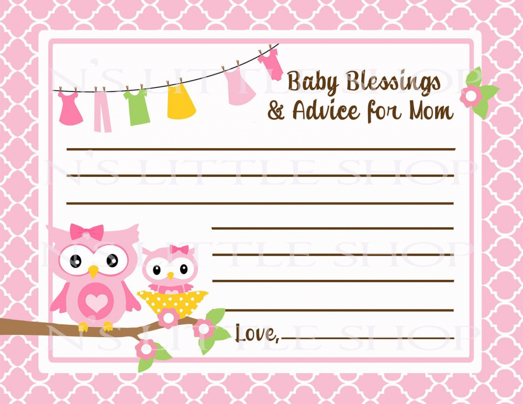 Free Printable Baby Advice Cards. Request A Custom Order And Have | Free Printable Baby Advice Cards