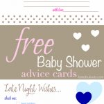 Free Printable Baby Shower Advice & Best Wishes Cards   Fantabulosity | Baby Prediction And Advice Cards Free Printable