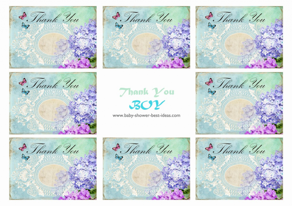 Free Printable Baby Shower Thank You Cards | Free Printable Baby Shower Thank You Cards