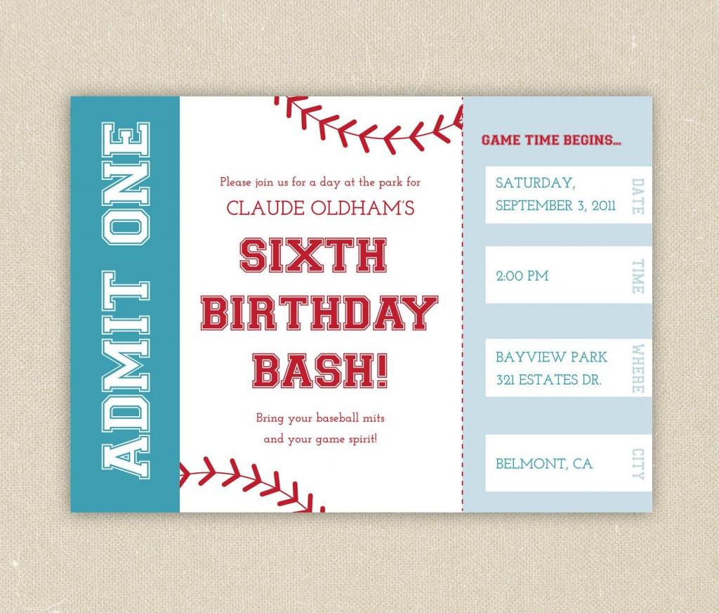 Free Printable Baseball Birthday Party Invitations | Birthday Party | Printable Sports Birthday Cards