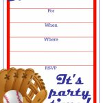 Free Printable Baseball Party Invitation | Party Printables | Printable Sports Birthday Cards