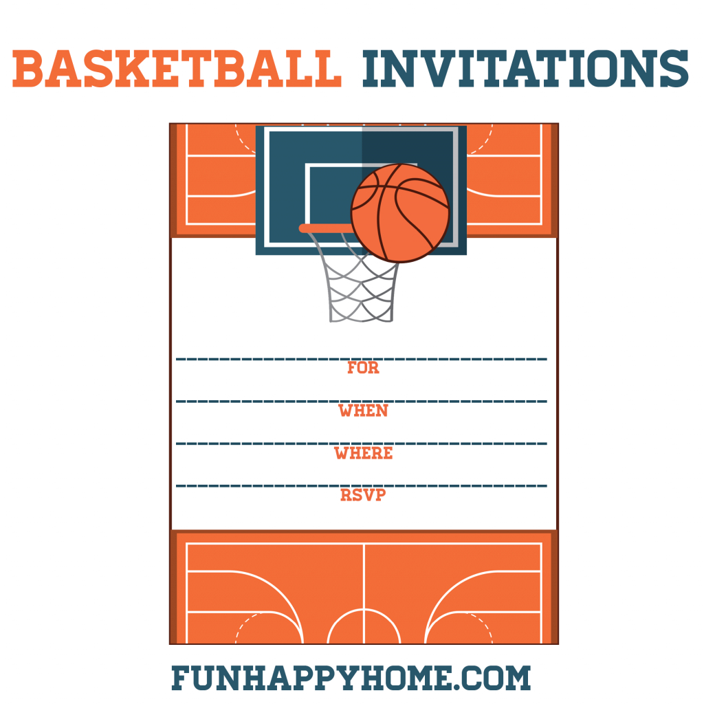 Free Printable Basketball Themed Party Invitations | Best Of | Free Printable Basketball Cards