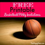 Free Printable Basketball Themed Party Invitations   Fun Happy Home | Free Printable Basketball Cards