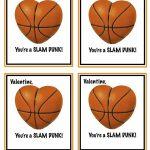 Free Printable Basketball Valentines | Valentines | Valentines | Free Printable Basketball Cards