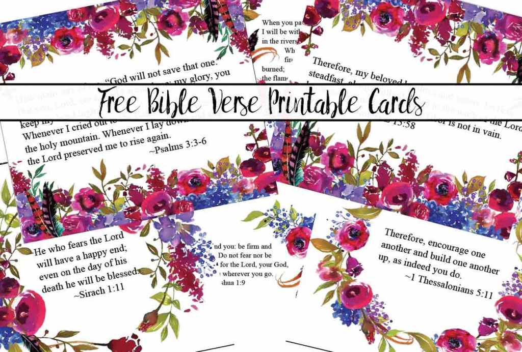 Free Printable Bible Verse Cards For When You Need Encouragement | Free Printable Scripture Cards