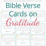 Free Printable Bible Verse Cards On Gratitude | Prayer | Printable | Free Printable Bible Verse Cards