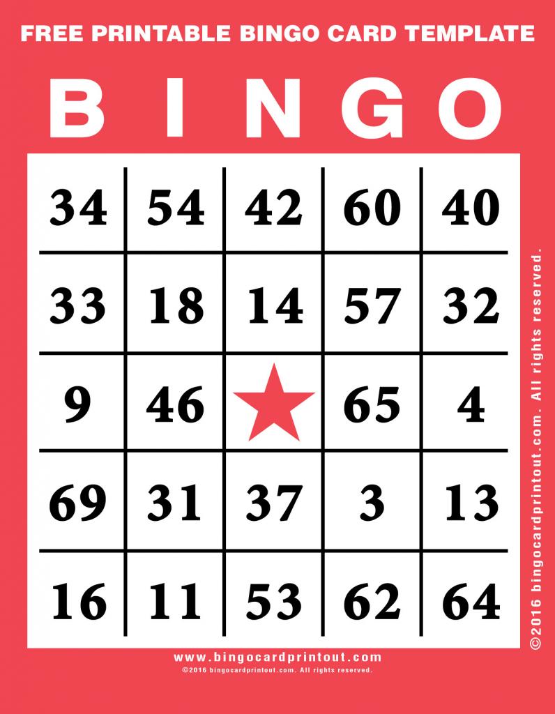 Free Printable Bingo Card Template - Bingocardprintout | Free Printable Bingo Cards