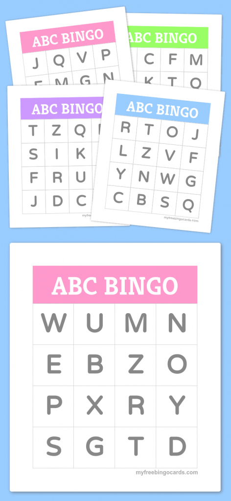 Free Printable Bingo Cards | Bingo Cards | Alphabet Bingo, Preschool | Bingo Cards Online Printable
