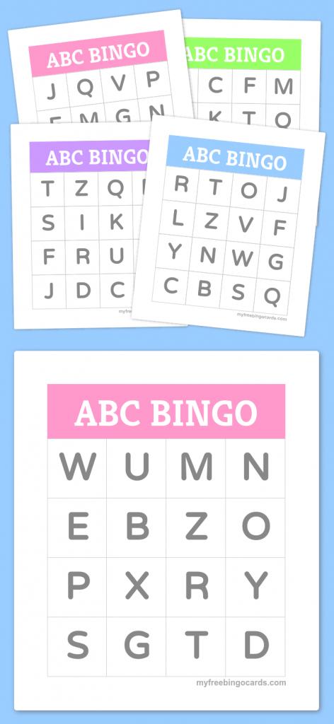 Free Printable Bingo Cards | Bingo Cards | Alphabet Bingo, Preschool | Free Printable Alphabet Bingo Cards