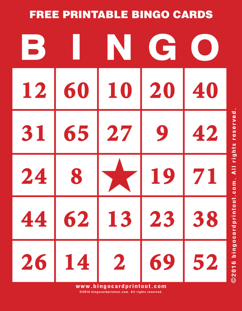 Free Printable Bingo Cards - Bingocardprintout | Free Printable Bingo Cards For Large Groups