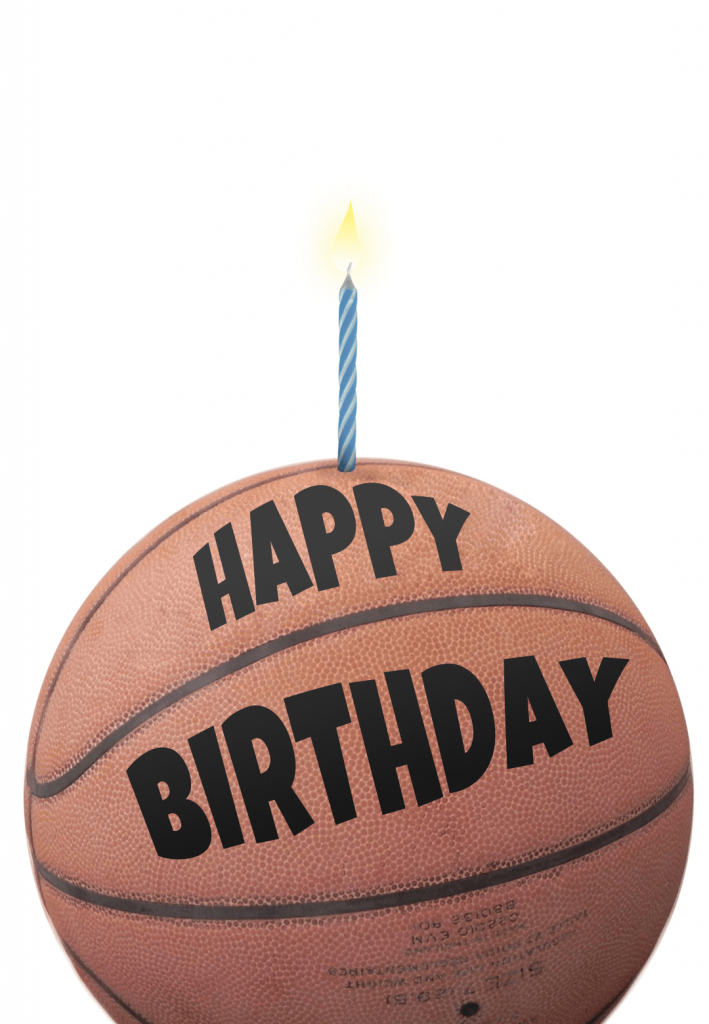 Free Printable Birthday Card - Basketball | Greetings Island | Free Printable Basketball Cards