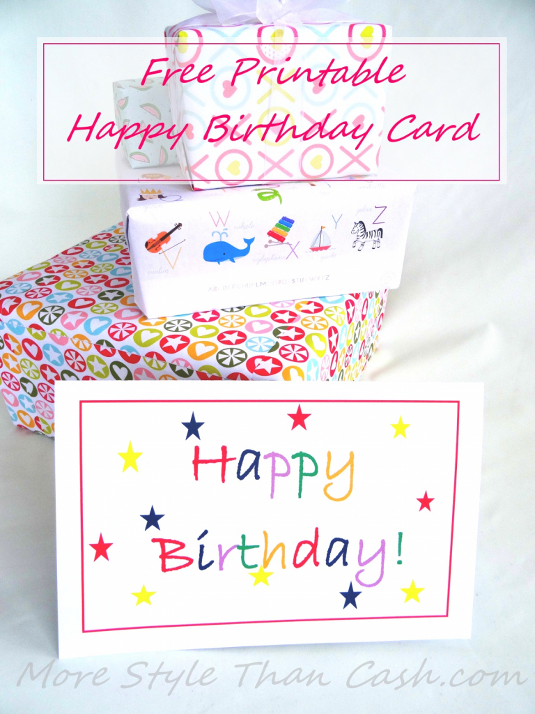Free Printable Birthday Card | Free Printable Happy Birthday Cards