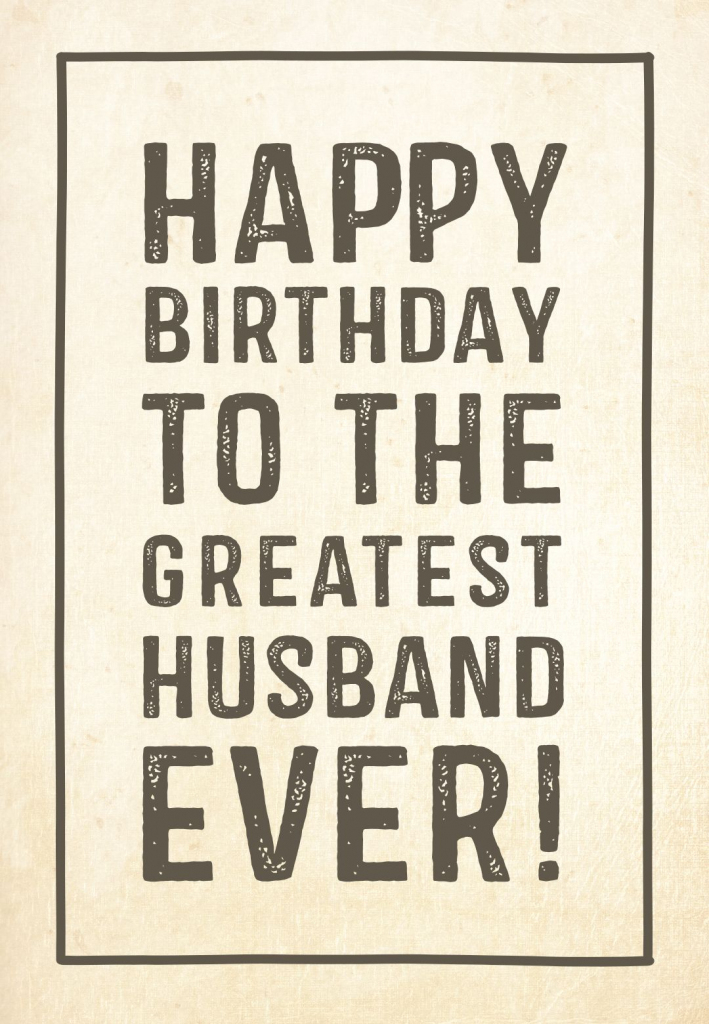 Free Printable Birthday Card - Greatest Husband | Greetings Island | Printable Birthday Cards For Husband