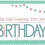 Free Printable Birthday Card Maker   Kleo.bergdorfbib.co | Printable Birthday Card Maker