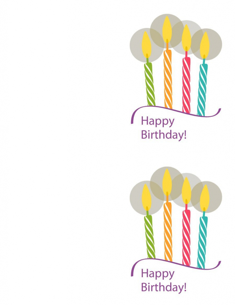 Free Printable Birthday Card Template - Kleo.bergdorfbib.co | Happy Birthday Free Cards Printable