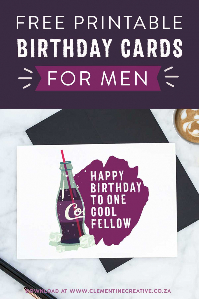 Free Printable Birthday Cards For Him | Printables, Invitations | Free Printable Birthday Cards For Dad