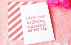 Design Your Own Birthday Card Printable
