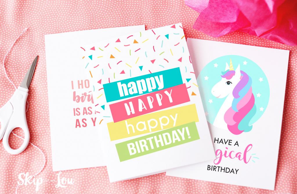 Free Printable Birthday Cards | Skip To My Lou | Free Printable Birthday Cards For Wife