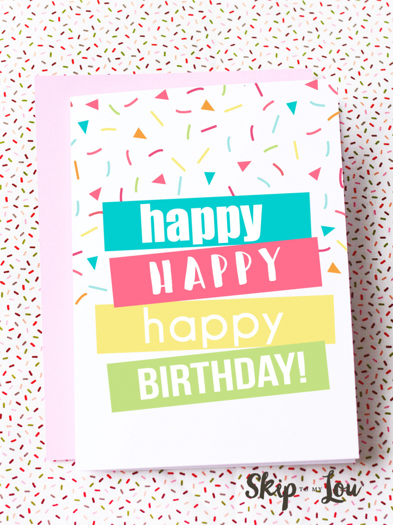 Free Printable Birthday Cards | Skip To My Lou | Free Printable Picture Cards