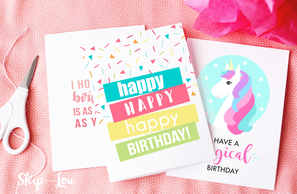 Free Printable Birthday Cards | Skip To My Lou | Printable 1 Year Old Birthday Card
