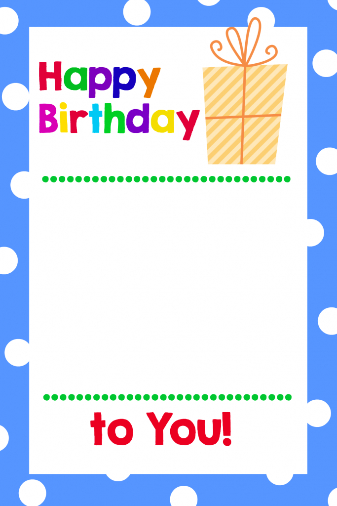 Free Printable Birthday Cards (That Hold Gift Cards) - Crazy Little | Printable Gift Card Holder Birthday