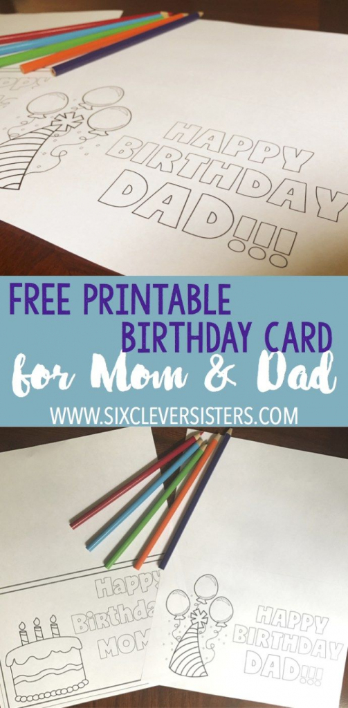 Free Printable Birthday Cards To Color | Dad Card | Free Printable | Printable Father Birthday Cards