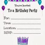 Free Printable Birthday Invitations For Kids #freeprintables | Online Printable Birthday Cards