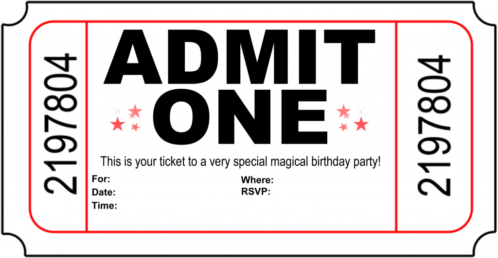 Free Printable Birthday Party Invitations - Kansas Magician | Free Printable Birthday Invitation Cards