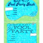 Free Printable Birthday Pool Party Invitations — Birthday Invitation | Free Printable Pool Party Invitation Cards