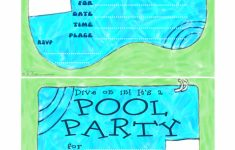 Free Printable Pool Party Invitation Cards