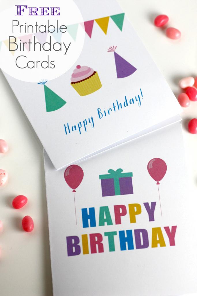 Free Printable Blank Birthday Cards | Catch My Party | Free Printable Birthday Cards